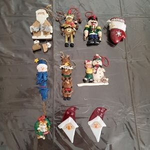 10 pc Vintage Style Ornament Lot